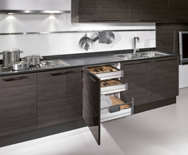 Beautiful Cucina Moderna Rovere Grigio Ideas - Ideas & Design 2017 ...