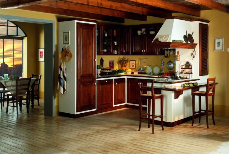 Cucina in muratura casale vendita di cucine a roma - Misure cucine in muratura ...