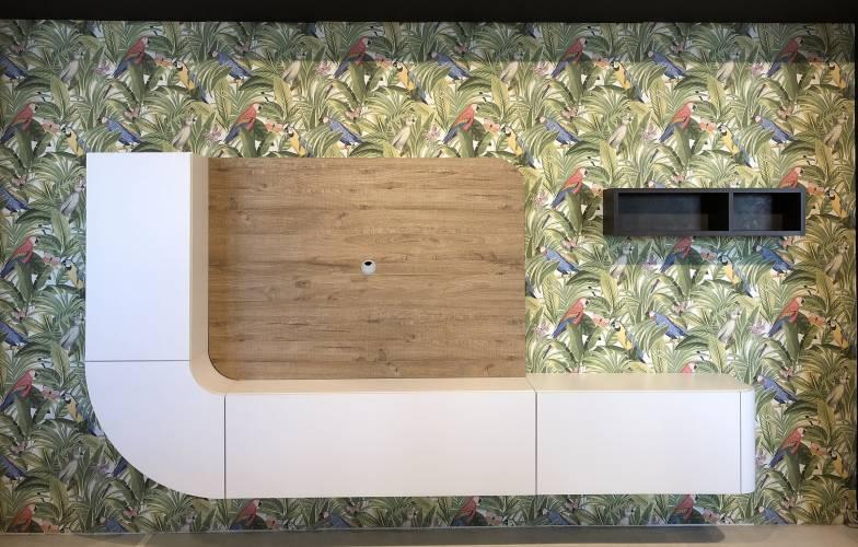 Soggiorno classico legno laccato offerta vendita soggiorni