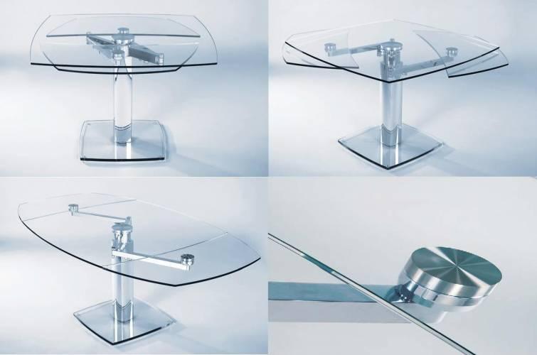 Tavolo allungabile in cristallo tavoli in legno da salotto - Epierre