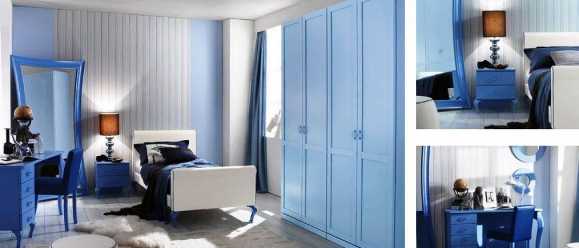Cameretta nouvelle blu vendita di camerette a roma for Camerette in offerta
