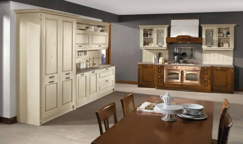 Cucina classica verona arredo3 vendita di cucine a roma - Cucina bianca e noce ...