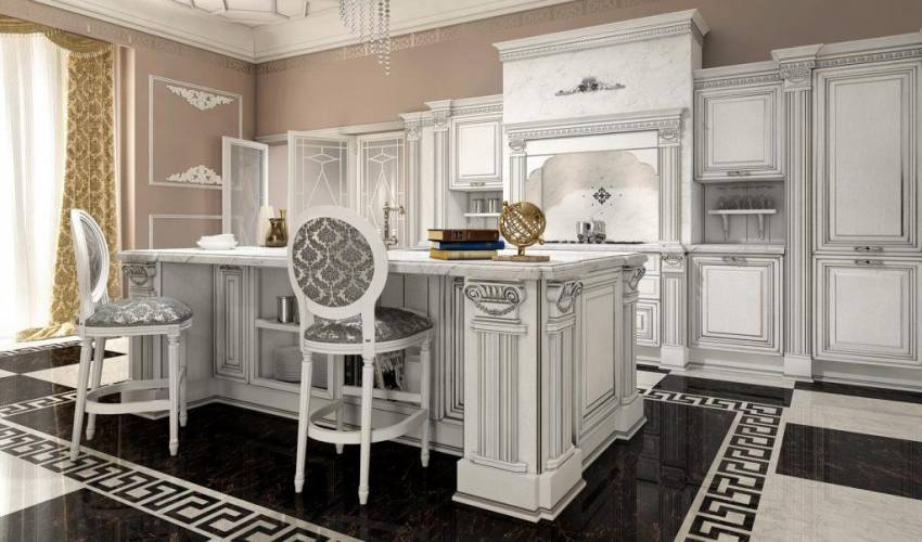 Cucina classica viktoria arredo3 vendita di cucine a roma - Arredo cucina classica ...
