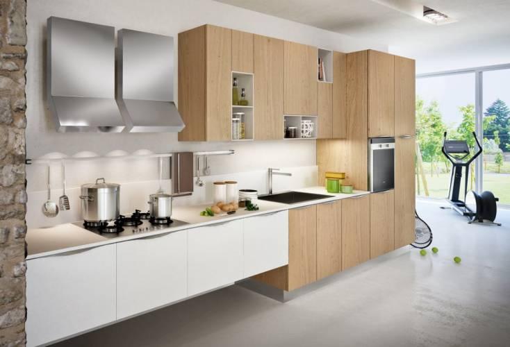 Cucina moderna new asia arredo3 vendita di cucine a roma - Cucina bianca e legno ...
