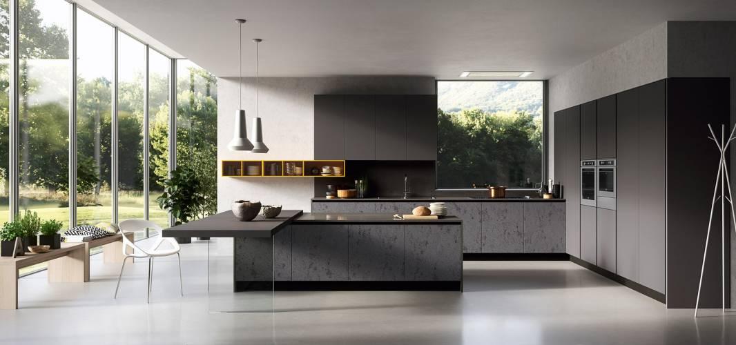 """Cucina moderna """"Glass"""" Arredo3 vendita di Cucine a Roma"""