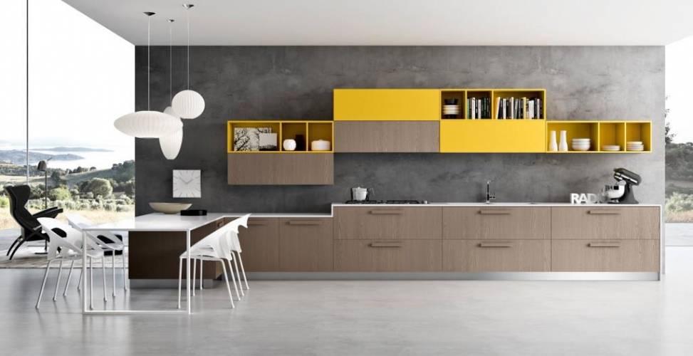 Cucina moderna pentha arredo3 vendita di cucine a roma - Cucine moderne gialle ...