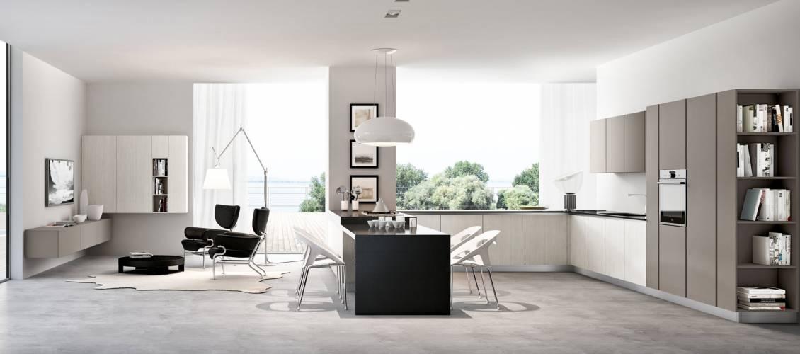 Cucina moderna pentha arredo3 vendita di cucine a roma for Zona living moderna