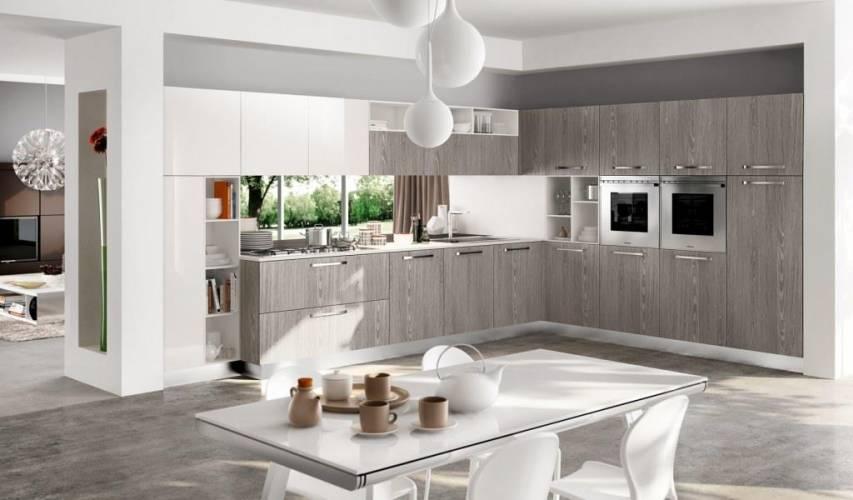 """Cucina moderna """"wood"""" arredo3 vendita di cucine a roma"""