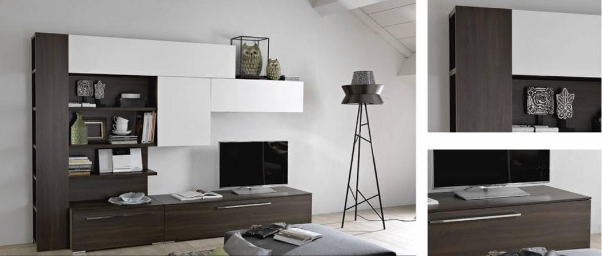 Parete soggiorno moderna for Mobili a parete per soggiorno
