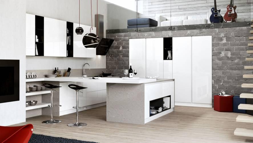 Cucina moderna plana arredo3 vendita di cucine a roma for Case con grandi cucine in vendita