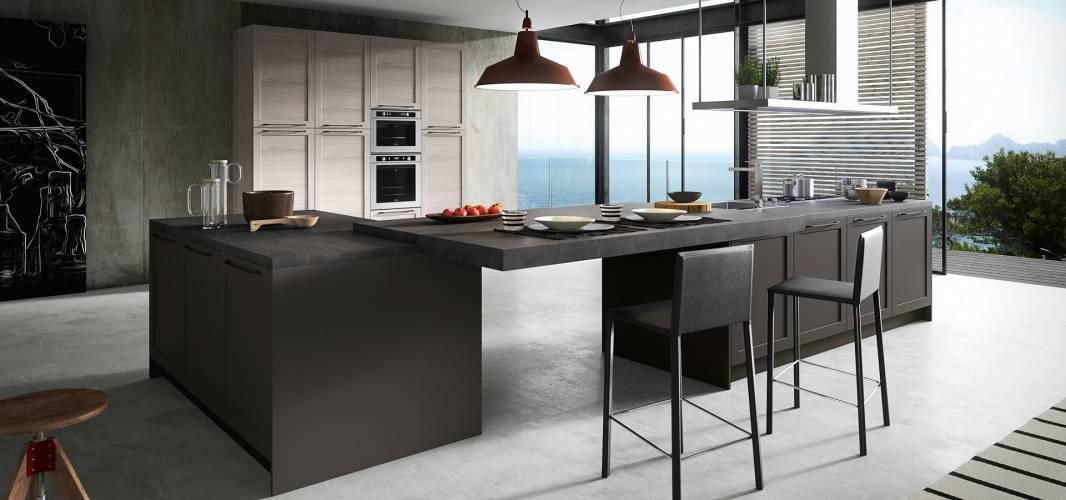 Cucina frame arredo3 vendita di cucine a roma - Cucine moderne scure ...